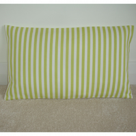 "Tempur Travel Pillow Cover Green Stripes 16""x10"" 16x10"