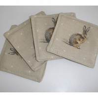 Set of 4 x Hare Coasters
