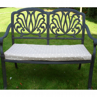Garden Bench or Window Seat Pad Cover Polka Dot COVER ONLY Beige