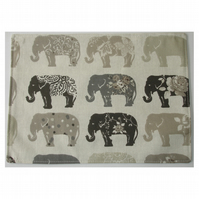 Elephant Placemat Grey Elephants