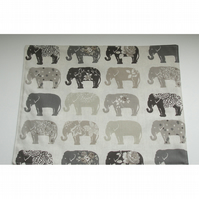 Large Elephant Placemat Grey Elephants