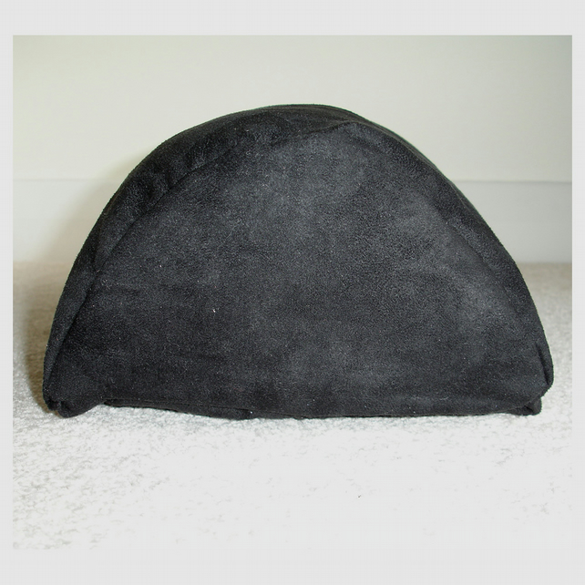 Half Moon Bolster Cushion Cover Semi Round Knee Neck Roll Pillow Black