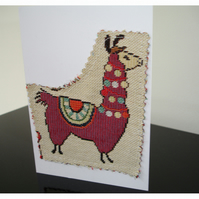 Pack of Two Llama Notelet Card x 2 Cards