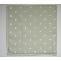 Square Placemat Green and White Polka Dot Place Mat Placemats