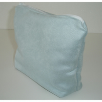 Travel Bag Underwear Cosmetics Purse Suedette Light Blue