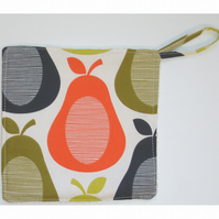Pear Pot Holder Potholder Grab Mat Kitchen Cookware Pad Pears Retro Vintage