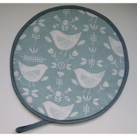 Aga Hob Lid Mat Pad Cover With Loop Surface Saver Birds Duck Egg Scandinavian