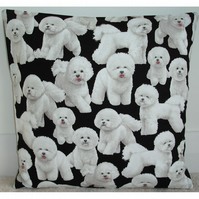 Bichon Frise Cushion Cover 16x16 inch