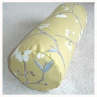 "Bolster Cushion Cover 16""x6"" Round Cylinder Neck Roll Pillow Yellow Ochre"