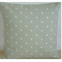 "16"" Cushion Cover Sage Green Polka Dots 16 inch"