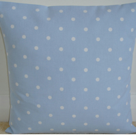 16 inch Blue Polka Dot Dots Spots Cushion Cover 16""