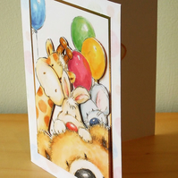 Blank Card, Animal Party