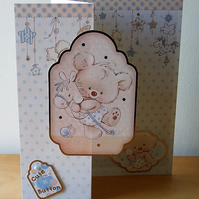 New Baby Card, Cute As A Button