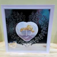 Valentines Day or Anniversary card, Sailing away