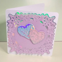 Card for Valentine's Day or Anniversary, Can Be Personalised