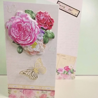 Floral card, Sent With Love