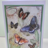 Blank card,  Butterflies For Someone Special