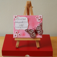 Mini Mixed Media Canvas, Life Is About....