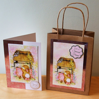 Decorated Gift Bag with matching Greeting Card. For A Special Friend  (487)