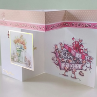 Mother's Day or Birthday card, Treats for Mum