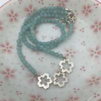 Sakura necklace with amazonite