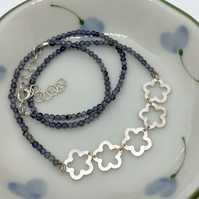 Ume necklace with iolite