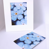 Forget Me Nots ACEO Art Print Floral ACEO Art Card Artist Trading Card