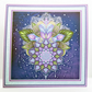 Lotus Flower Blank Any Occasion Square Greetings Card