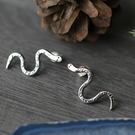 Sterling Silver snake earrings - Studs