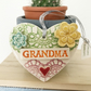 Pottery decoration Grandma Heart Ceramic lace pattern