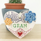 Pottery decoration Gran Heart Ceramic lace pattern