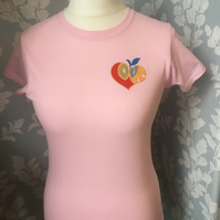 Pink love heart T-shirt