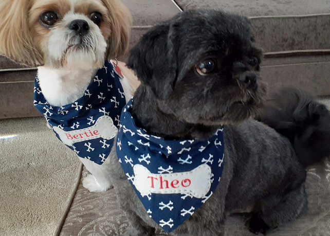 Personalised Dog Bandanas