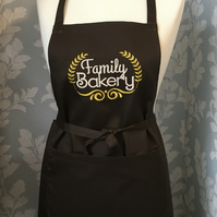 Apron embroidered - Family bakery