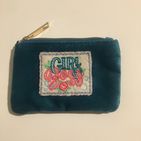 Coin purse embroidered Girl Boss