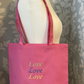 Valentines love shoulder tote bag