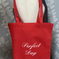 Tote bag embroidered- Perfect Day