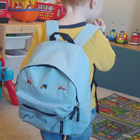 Child's personalised backpack