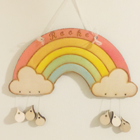Nursery Rainbow, Personalised Gift, Custom made, FREE UK SHIPPING