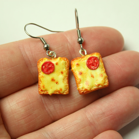Welsh Rarebit earrings