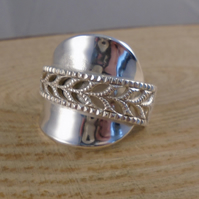 Upcycled Norwegian Silver Wrap Spoon Ring