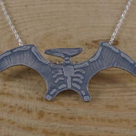 Sterling Silver Pterodactyl Fossil Necklace