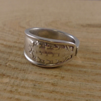 Upcycled Silver Plated Tulip Spoon Handle Ring SPR082010