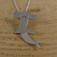 Sterling Silver Hammerhead Shark Necklace