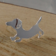 Sterling Silver Dachshund Pin Brooch