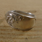 Upcycled Silver Plated Swirl Spoon Handle Ring SPR112003