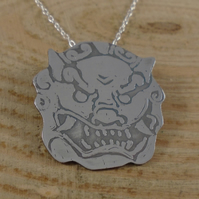 Sterling Silver Foo Dog Necklace