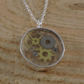 Sterling Silver Cog Necklace