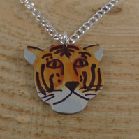 Anodised Aluminium Tiger Necklace AAN042101