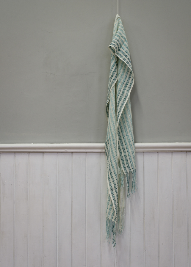 Deep Sea Waves Handwoven Cotton Scarf